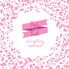 粉色树枝情人节背景矢量素材