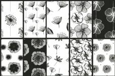 手绘花朵无缝背景图案