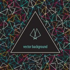潮流三角形时尚几何背景矢量