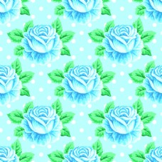 手绘蓝色玫瑰花蕾丝矢量背景