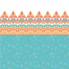 蓝色小清新三角形几何时尚矢量背景