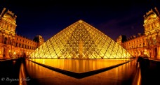 金色大气建筑灯光背景