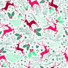 蓝色背景圣诞节新年装饰矢量素材图