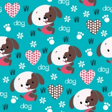 狗狗可爱动物图案矢量素材