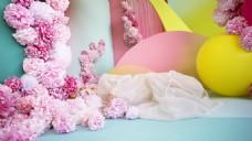 浪漫温馨粉色背景