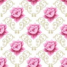 粉红色荷花蕾丝矢量背景