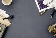 简约现代咖啡办公桌背景