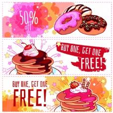 甜甜圈快餐甜点促销