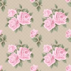 粉色复古玫瑰花蕾丝矢量背景