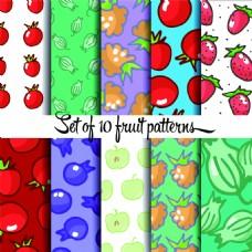 卡通水果图案矢量素材