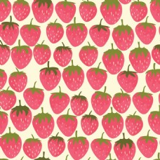 可爱草莓无缝图案背景矢量