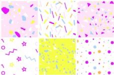 聚会party风格彩色纸片庆祝节日平铺填充背景图案印刷纺织高清图片矢量