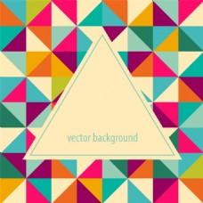 多边形几何三角形背景矢量素材