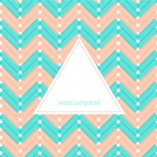 小清新折线三角形时尚几何背景矢量