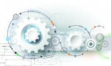 高科技技术水晶齿轮背景矢量图