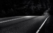 夜晚黑色道路背景