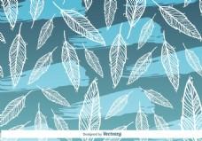 素雅植物叶子图案背景