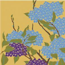 蓝紫色葡萄串背景图