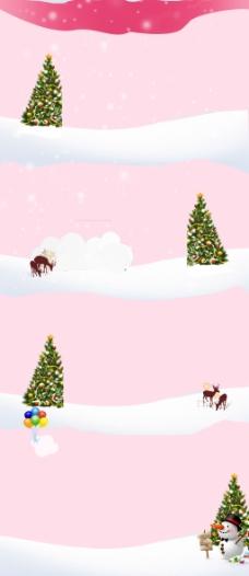 浪漫圣诞节雪花背景