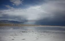 茶卡盐湖 彩虹