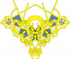 黄色服装印花花纹