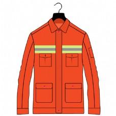厂服环卫工人工服设计PS绘图正面