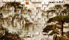 国画背景墙