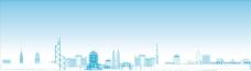 中国城市代表性建筑矢量图