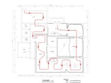 平面引导图CAD室内线图功能区