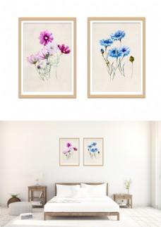 现代淡雅手绘雏菊花装饰画无框画