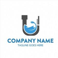 水管储水抽象logo矢量素材