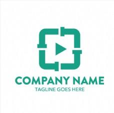 绿色正方形创意logo矢量素材