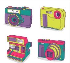 老式彩色相机集