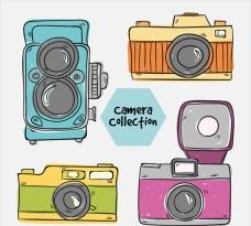 手绘古董级相机插图