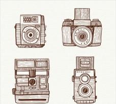 手绘复古相机插图系列