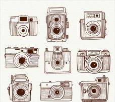 手绘复古相机系列插图