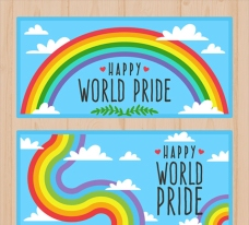 同性恋彩色的自豪日横幅