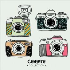 彩色手绘相机插图