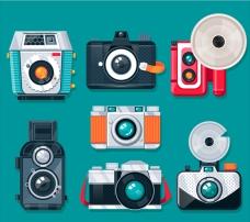 彩色平面怀旧相机集