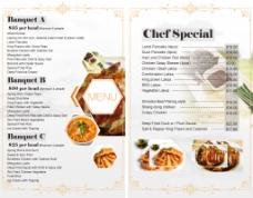 西式餐馆甜品菜单菜谱