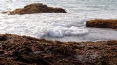 海滩石头素材视频