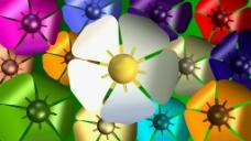 彩色花瓣动画视频素材