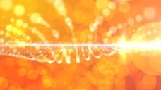 金色粒子波纹视频