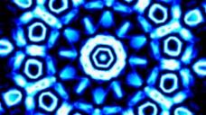 蓝色万花筒视频背景