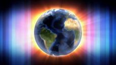 发光蓝色线条地球视频