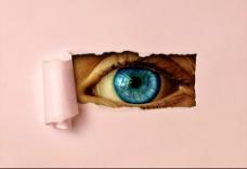 撕纸眼睛视频素材