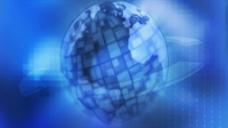 方块元素地球蓝色背景