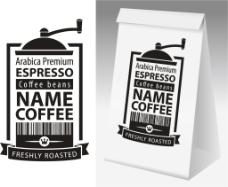咖啡纸质包装装饰图案设计