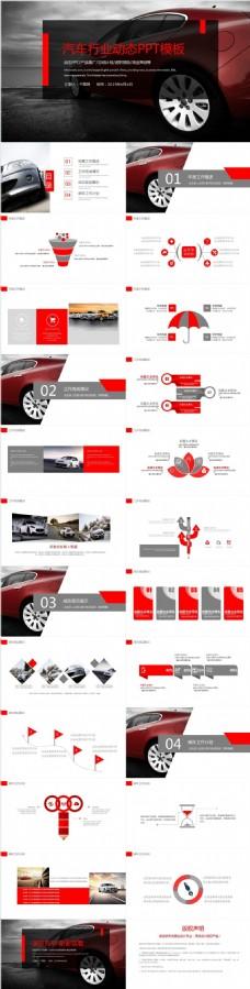 汽车行业营销总结汇报PPT模板
