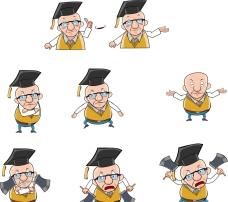 卡通博士人物表情